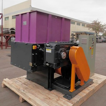 Multifunctional Wood Plastic Rubber METALblock film barrel single shaft shredder machine